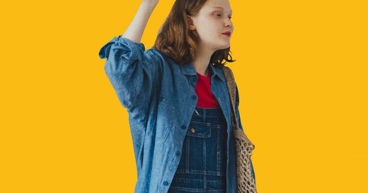 """ワントーンスタイルは差し色Tシャツで洒落感をプラス【""""オーバーオール""""ガールの着まわし7days-SUNDAY】"""